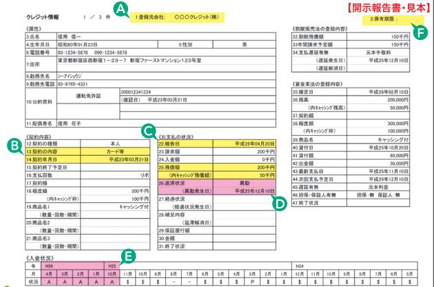 CIC開示報告書の見本
